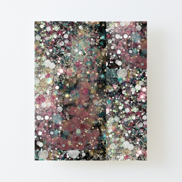 011321.1 Abstract Dark Galaxy Painting  Canvas Mounted Print