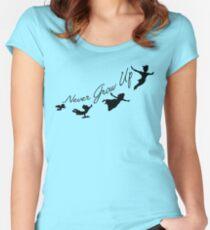 Niemals erwachsen werden Tailliertes Rundhals-Shirt