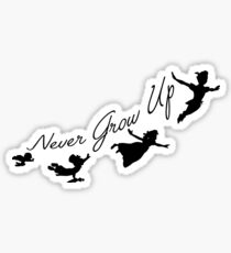 Never Grow Up Sticker