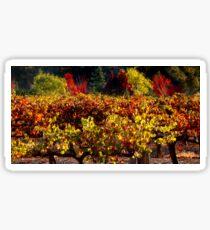 Autumn Vineyard Landscape Sticker