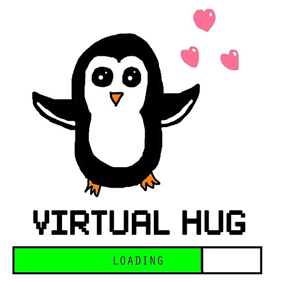 Póster «Virtual Hug Loading» de poppetini | Redbubble