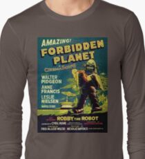 Vintage Sci-fi Movie Forbidden Planet, Robot Long Sleeve T-Shirt