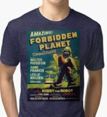 Vintage Sci-fi Movie Forbidden Planet, Robot Tri-blend T-Shirt