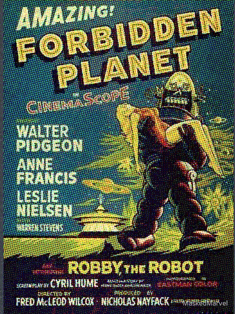 Película de ciencia ficción de la vendimia planeta prohibido, robot de MaskedMarvel