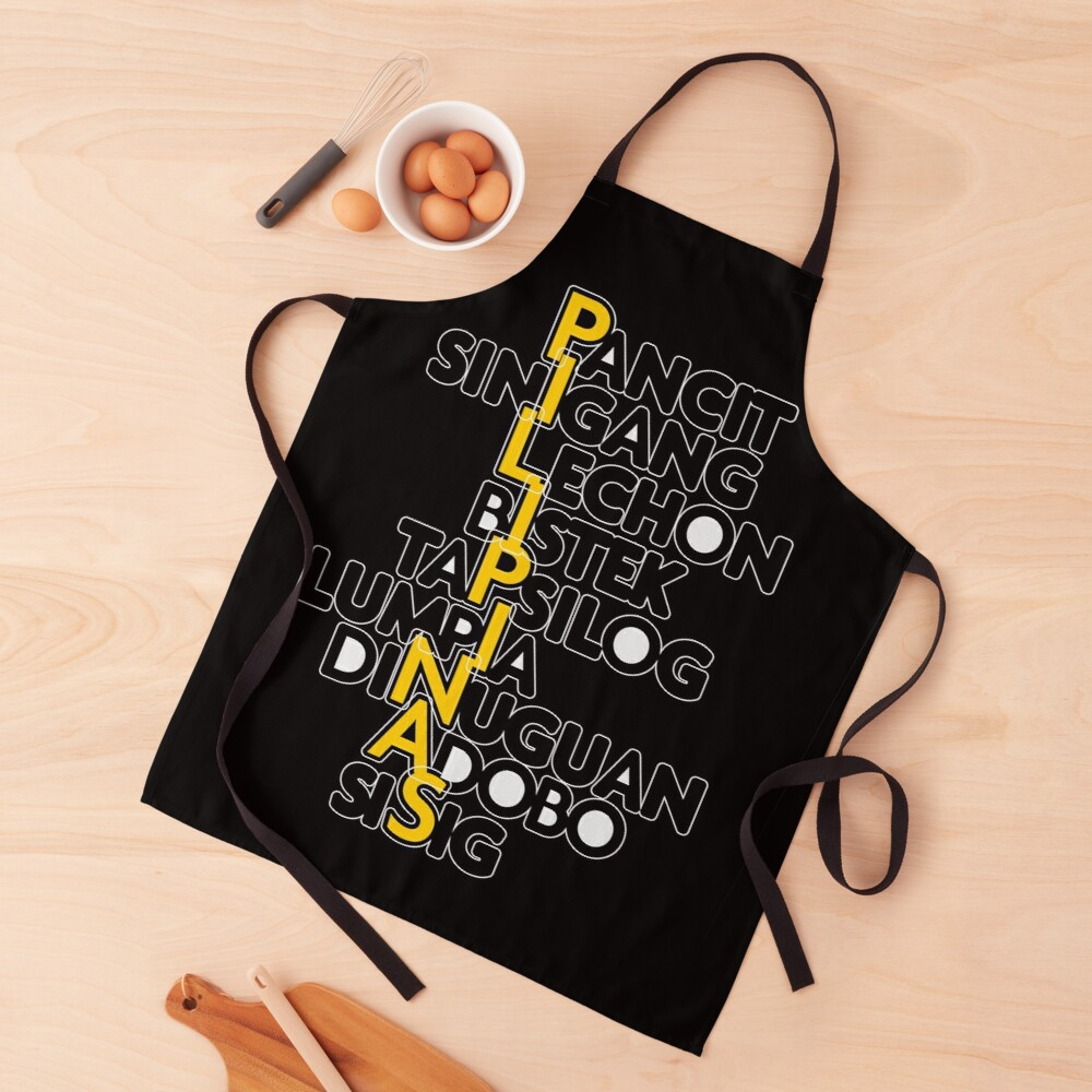 Pilipinas-Philippines All Time Favorite Food Stacked Apron