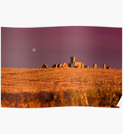 New Slains Castle at Sunset - Cruden Bay - Aberdeenshire - Scotland Poster
