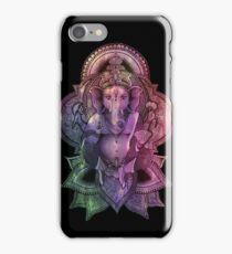 Ganesha Color - black iPhone Case/Skin