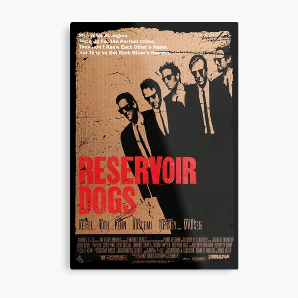 RESERVOIR DOGS MOVIE POSTER OLD STYLE Metal Print