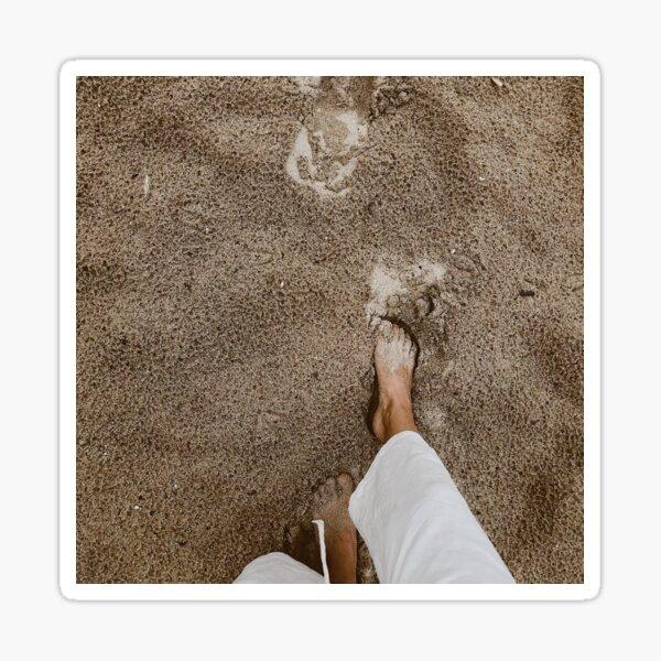 feet in the sand Sticker