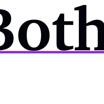 Both. - Black Text with Bisexual Triangles by cheezy229