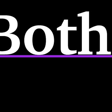 Both. - White Text with Bisexual Triangles by cheezy229