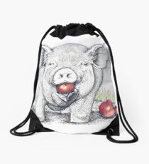 Lunch and a Spa Treatment Drawstring Bag