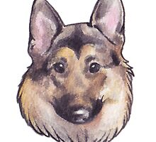GSD Love by Courtney Marie Art