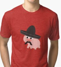 Cerdito Bandito Pig Tri-blend T-Shirt