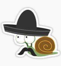 Caracolcito Bandito snail  Sticker