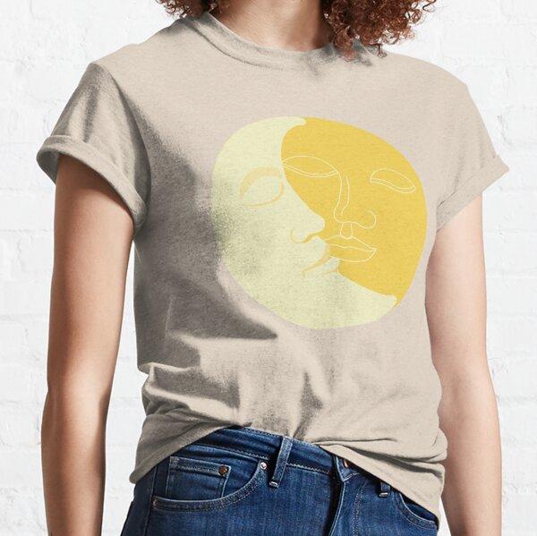 Vintage Solar Eclipse -  Sun and Moon Faces Classic T-Shirt
