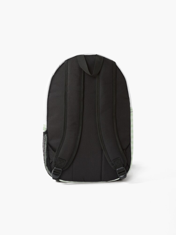 Alternate view of Sage green gingham Backpack