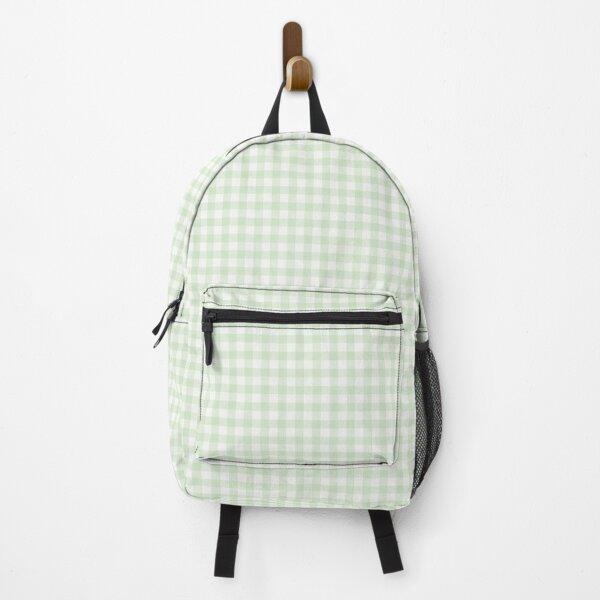 Sage green gingham Backpack