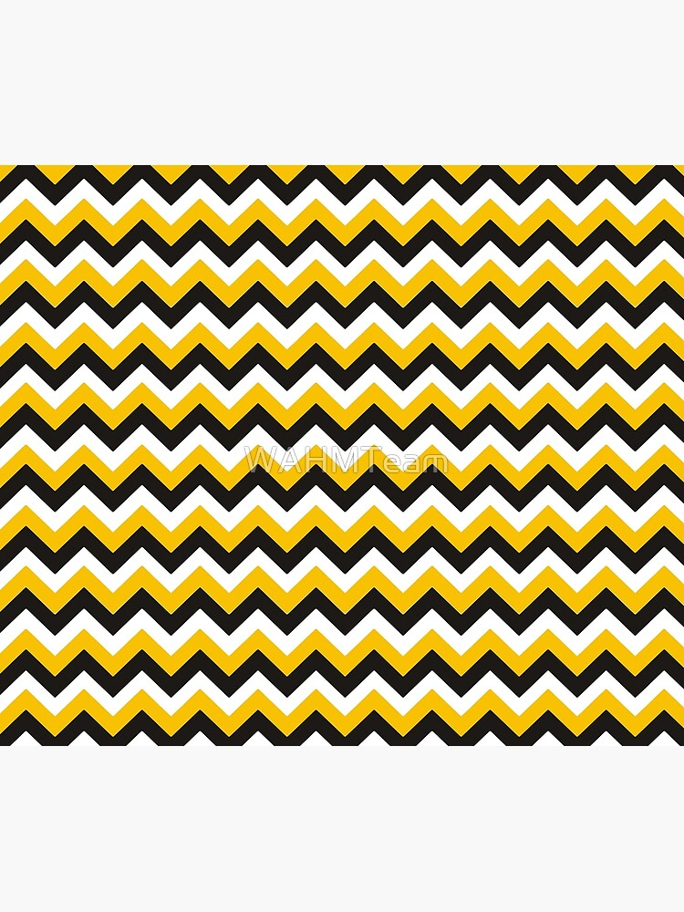 Yellow Black and White Chevron Zigzag Pattern by WAHMTeam