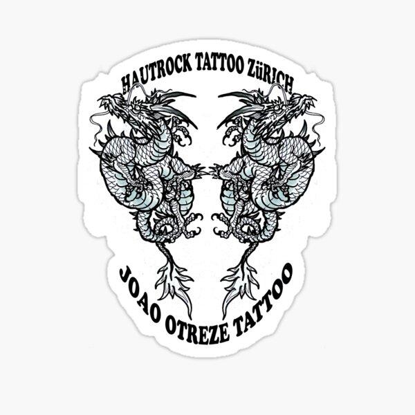 Os Dragoes do Hautrock Tattoo Zurich Sticker