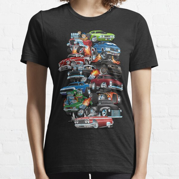 Car Madness!  Muscle Cars and Hot Rods Cartoon Essential T-Shirt