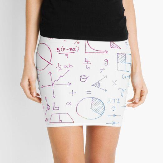 Math formulae (white) Mini Skirt