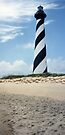 Hatteras Lighthouse 1996  - Before its move by Sherri Fink