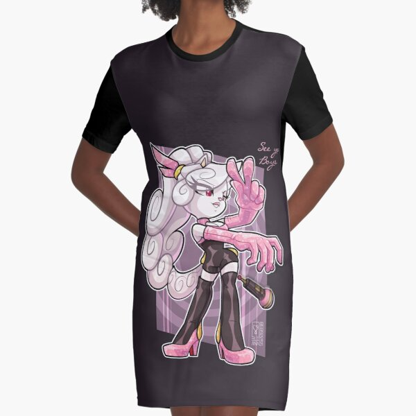 Chrystal Cooperson original Character Graphic T-Shirt Dress