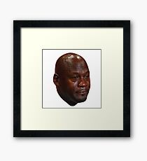 Crying Jordan Framed Print