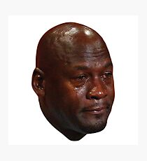 Crying Jordan Photographic Print