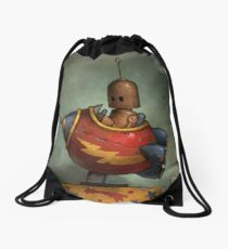 To Boldly Go Drawstring Bag