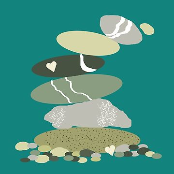 Falling pebble stack by WendyMassey