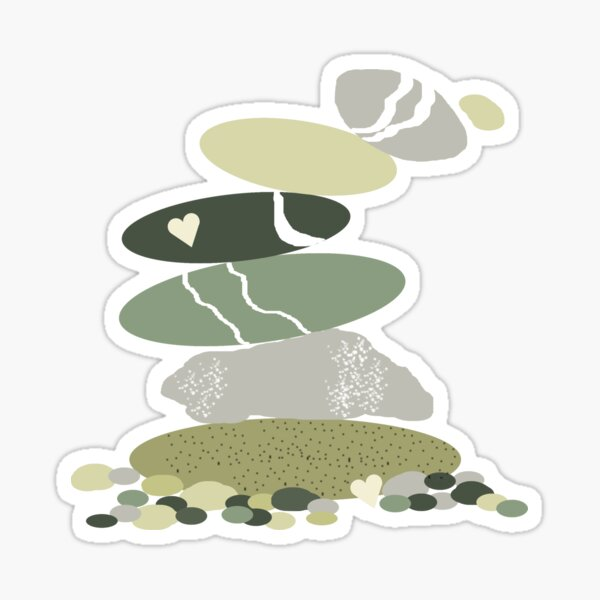 Falling pebble stack Sticker