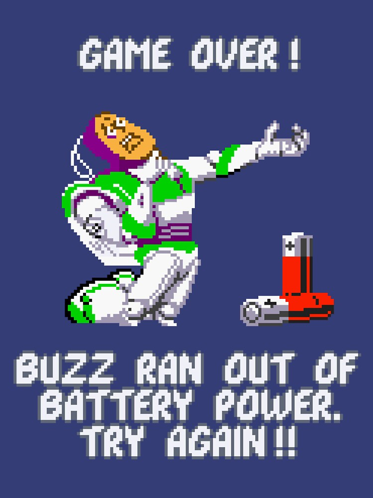 Buzz Ran Out of Battery Power by tehlu9prod