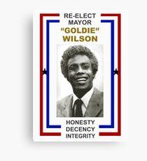Re-elect Mayor Goldie Wilson T Shirt Canvas Print