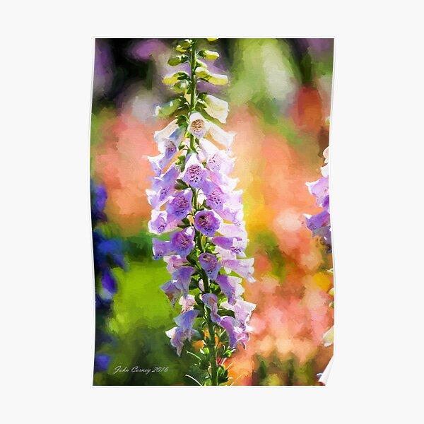 Purple Delphinium #1 Poster