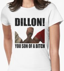 Predator Dillon You Son Of A Bitch Womens Fitted T-Shirt