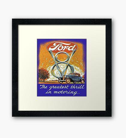 The Greatest Thrill In Motoring Framed Print