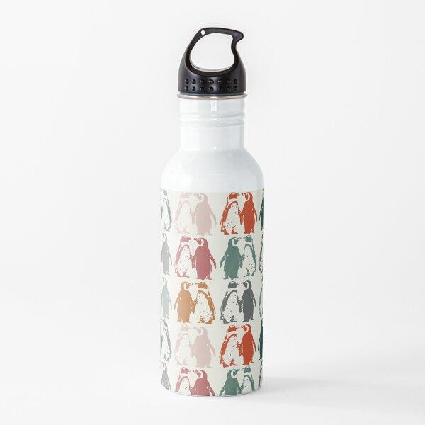 Colourful penguins in vintage colours  Water Bottle