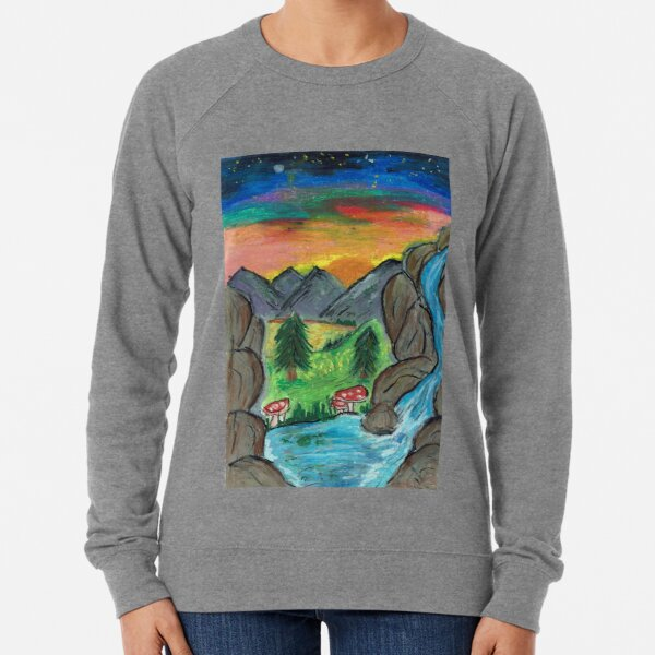 Sunset in the forest Lightweight Sweatshirt