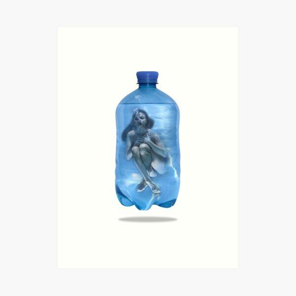 Flaschen Post Blue Agony Kunstdruck