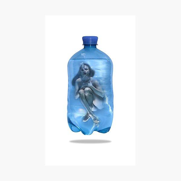 Flaschen Post Blue Agony Fotodruck