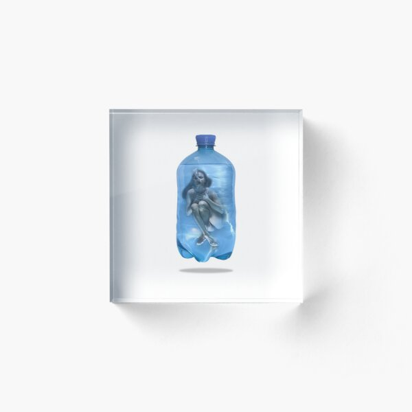 Bottles of Post Blue Agony Acrylic Block