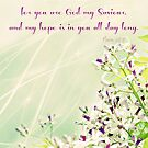 Psalm 25:5 (H is for Hope ~ blog)  by Donna Keevers Driver