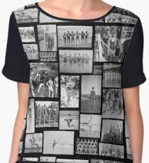 B&W Vintage Swimmers - Large Format  Chiffon Top