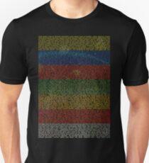 Radiohead - In Rainbows Lyrics T-Shirt Design #1 Unisex T-Shirt