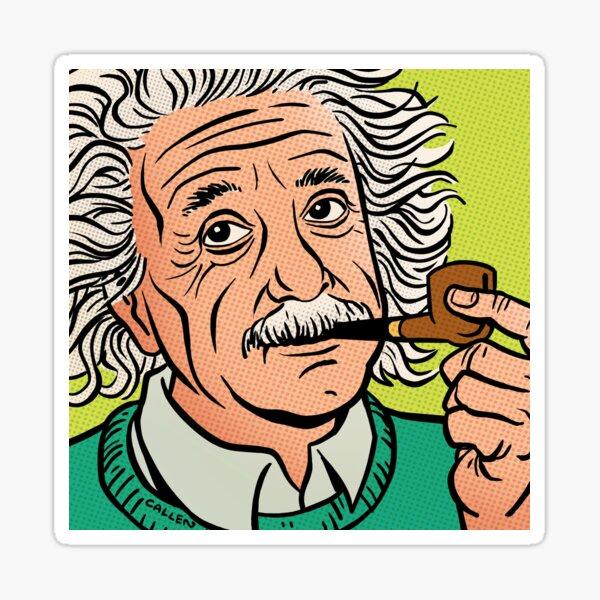 Einstein Comic Portrait Sticker