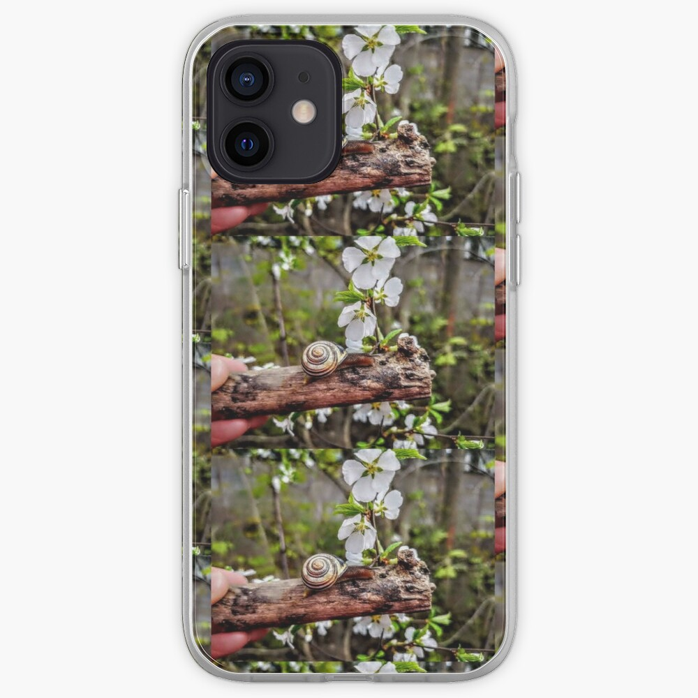The garden snail (Helix aspersa)  By Yannis Lobaina  iPhone Case & Cover