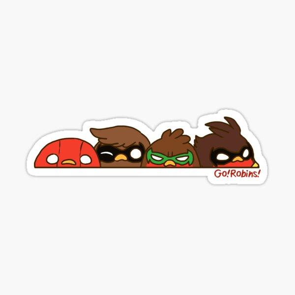 Go!Robins! - Robin Row Sticker