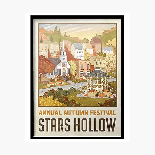 Stars Hollow Autumn Festival Poster T Shirt Photographic Print